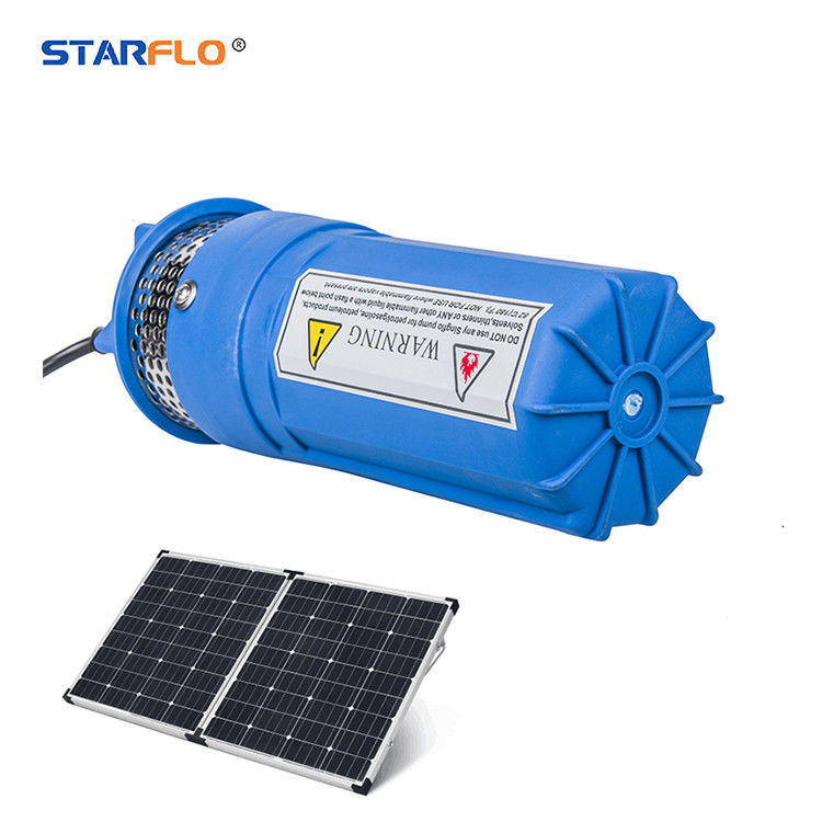 Plastic 12 Volt Submersible Water Pump , Solar Powered Dc Water Pump Iron